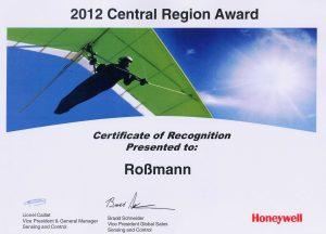 Award 2012 Honeywell